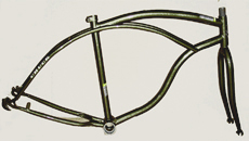 "24"" paint color beach cruiser bike frame and fork"
