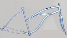 "26""woman beach cruiser bike frame"
