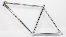 chrome steel fixed gear frame