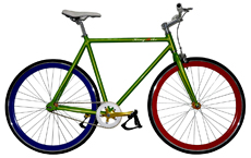 700C Alloy fixed gear bicycle